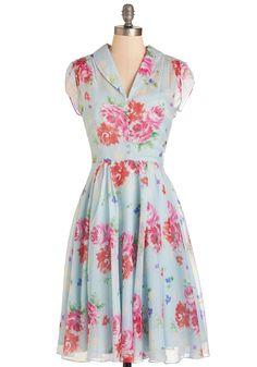 Your Inner Flowerista Dress | Mod Retro Vintage Dresses | ModCloth.com