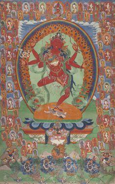 Thangka depicting Kurukulla. Tibet, 19th Century.