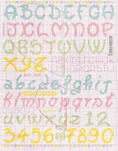 New embroidery patterns cross stitch monograms ideas Cross Stitch Letter Patterns, Cross Stitch Letters, Cross Stitch Baby, Embroidery Hoop Crafts, Embroidery Fonts, Embroidery Patterns, Cross Stitching, Cross Stitch Embroidery, Alphabet And Numbers