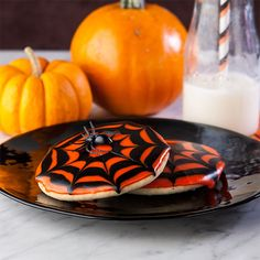 Gluten Free Halloween Spider Web Cookies, snagged two just for you!