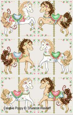 Shannon Christine Designs - Carousel Horses (cross stitch pattern)