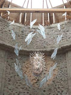 Neratov: Jediný kostel v ČR se skleněnou střechou - TravelPlacesAndLife.com Coconut Flakes, Eagle, Mountains, Eagles, The Eagles, Bergen