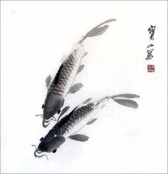 japanese koi fish painting - Google Search