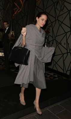 Scarves...fashion and function...Angelina Jolie Just Started an Unexpected Trend—but We Are So on Board