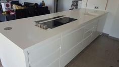 Encimera corian cocina blanca