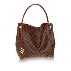 Louis Vuitton Cherry Damier Ebene Caïssa Hobo Bag