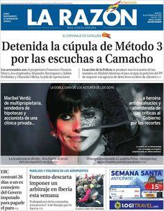 Los Titulares y Portadas de Noticias Destacadas Españolas del 19 de Febrero de 2013 del Diario La Razón ¿Que le parecio esta Portada de este Diario Español?