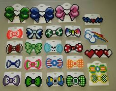 Perler Bead Hair Bows / Bow Ties