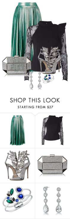 """""""Untitled #3717"""" by janicemckay ❤ liked on Polyvore featuring Gucci, self-portrait, Giuseppe Zanotti, GUESS and Bling Jewelry"""