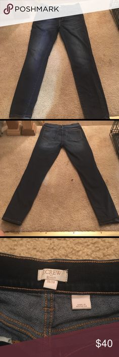J. Crew Women's Stretch Jeans Great Condition. Barely worn jeans. Still dark like new.  Stretch skinny jeans. Size 26/28 J. Crew Jeans Skinny