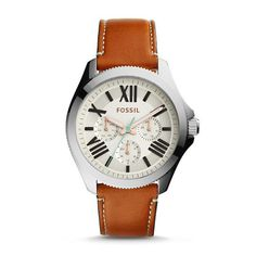 Montre pour femme : Cecile Multifunction Dark Brown Leather Watch