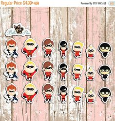 LABOR DAY SALE The Incredibles Planner Stickers by BellaPlans