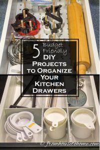 5 DIY Projects to Organize Your Kitchen Drawers
