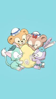 Melody Hello Kitty, Duffy The Disney Bear, Kawaii Cute, Lisa Simpson, Disneyland, Cute Animals, Wallpaper, Creative, Cards