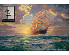 Thomas Kinkade Courageous Voyage Painting Limited Edition Canvas