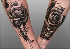 These couple tattoos help you to show that how much love you have devoted to each other. So, let's explore 32 couple tattoos for every couple should try. Marriage Tattoos, Partner Tattoos, Relationship Tattoos, Skull Tattoos, Rose Tattoos, Body Art Tattoos, Sleeve Tattoos, Tatoos, Mini Tattoos