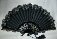 Modern Fairytale Ball Fan, Abanicos de Puntilla, Hand Fans, Flamenco, Spanish Hand Fans