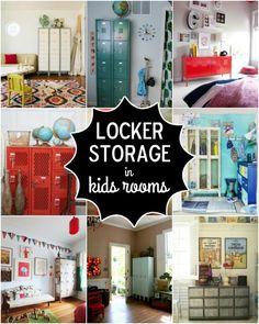 Locker Storage Ideas for Kids Rooms