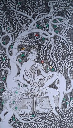 """It is the supreme art of the teacher to awaken joy in creative expression and knowledge.""    ~ Albert Einstein  Artist:  Dalip Chandolia Buddha   <3 lis"