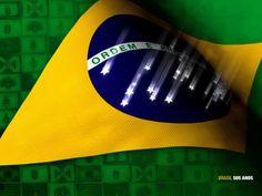Bandeira Brasil Estrelas caindo Wallpaper