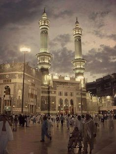Mecca is a city in the Hejaz and the capital of Makkah Province in Saudi Arabia and also the holiest city in Islam. Masjid Al Haram, Riad, Mekkah, Beautiful Mosques, Islamic Architecture, Beautiful Places In The World, Amazing Places, Place Of Worship, Islamic Art