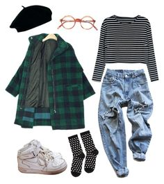 """""""ghjghjhkjlllññ"""" by pallo ❤ liked on Polyvore featuring ASOS, Levi's, NIKE and Hansel from Basel"""