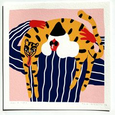 GIRL-AND-TIGER-GICLEE