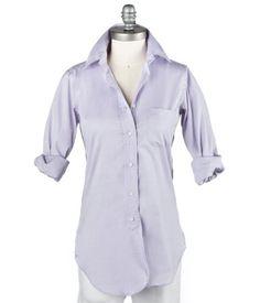 ann mashburn boyfriend shirt in lavender