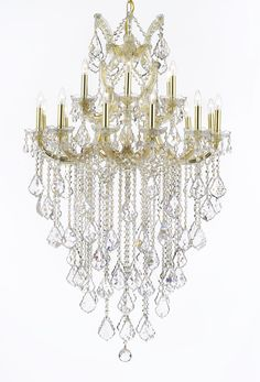 Maria Theresa Trimmed CHANDELIER Chandeliers, Crystal Chandelier, Crystal Chandeliers, Lighting