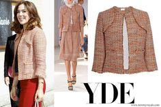Crown Princess Mary of Denmark wore Ole Yde Jana Jacket in Orange www.newmyroyals.com