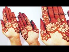 bharwa mehndi design with simple trick Mehndi Designs Front Hand, Rose Mehndi Designs, Henna Designs Feet, Mehndi Designs For Beginners, Modern Mehndi Designs, Mehndi Design Photos, Wedding Mehndi Designs, Mehndi Designs For Fingers, Dulhan Mehndi Designs