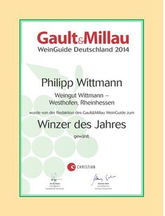 The best vinery of the year 2014. The Wittmann's winery, Germany.
