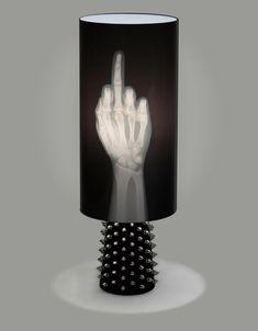 """Die """"Fuck You"""" Lampe on http://www.drlima.net"""