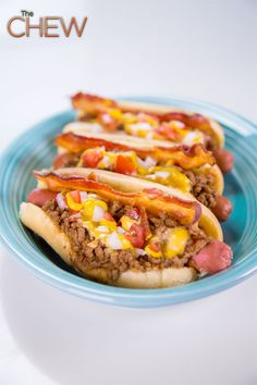 Michael Symon's Chili Dog #thechew