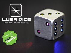 LUMA DICE, Metal LED Powered Light Dice. The coolest dice for all your tabletop & board game adventures!