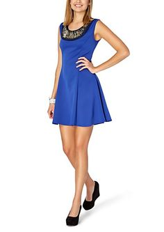 image of Metallic Tribal Collar Skater Dress-rue 21 L-O-V-E!!!!!!