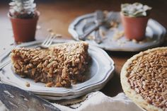 Sunflower seed pie: variation on pecan pie...especially good if made a day ahead.