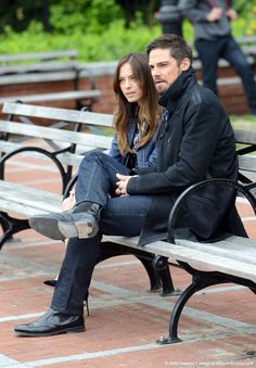 Jay Ryan as Vincent and Kristin Kreuk as Cathering in Beauty and the Beast filming E22S02 - credit to the photographer