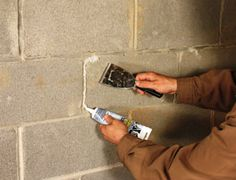 Waterproofing Basement Walls - Extreme How To - View All. Fill cracks and holes with concrete paste