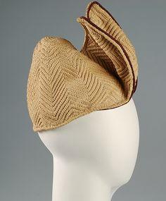 Hat Designer: Sally Victor  (American, 1905–1977) Date: 1941 Culture: American Medium: Cotton