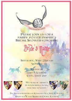 Harry Potter Bridal Shower Invitation by AScientificArt on Etsy