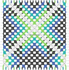 Normal friendship bracelet pattern variation added by KrazyKnotz. star starburst burst x line lines. Starburst Bracelet, Diy Friendship Bracelets Patterns, Make A Donation, Beautiful Patterns, Perler Beads, Beading Patterns, Knots, Color Schemes, Rotary Club
