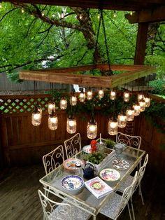 60 X 36 Mason Jar Chandelier  Mason Jar Lighting  by ChicagoLights, $1075.00