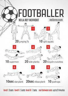Soccer is my favorite sport and I am playing it a lot. This is a great pre-game … Soccer is my favorite sport and I am playing it a lot. This is a great pre-game workout! Neila Rey Workout, Sixpack Workout, Gym Workout Tips, Fitness Workouts, At Home Workouts, Agility Workouts, Workout Plans, Football Workouts, Football Drills