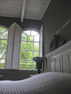 Home And Living, Farmhouse Style, Master Bedroom, Windows, Rustic, Interior, Bedrooms, Inspiration, Sleep Well