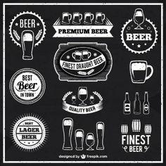 Rótulos de cerveja preto e branco                                                                                                                                                     Mais