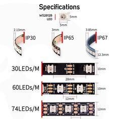 pixels/leds/m Smart led pixel strip,Black/White Price: & Flat Rate Shipping Led Strip, 30th, The 100, Black And White, Flat Rate, Free Shipping, Black N White, Black White