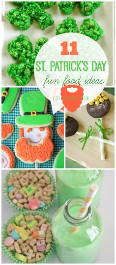 11 St Patrick's Day food ideas |lollyjane.com  So many ideas I need to do in my classroom each day!!
