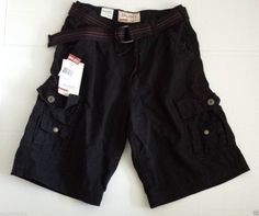Men Size 40 Cargo Black Heavy #cotton shorts by GALAXY (with canvas belt) visit our ebay store at  http://stores.ebay.com/esquirestore
