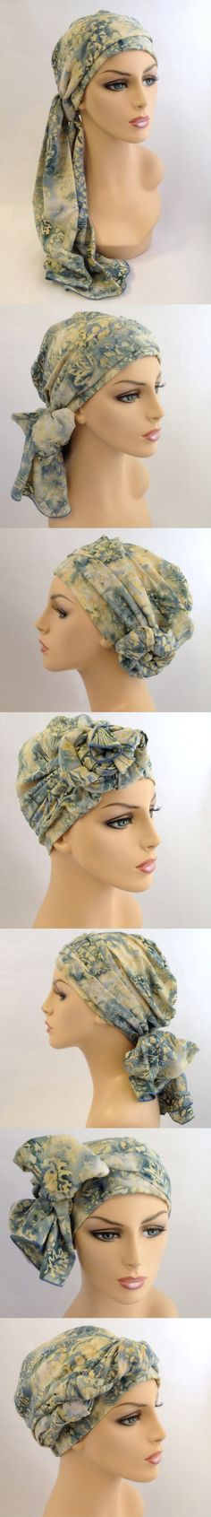 Turban & Scarf set easily ties in dozens of styles.  Feel beautiful during #chemo
